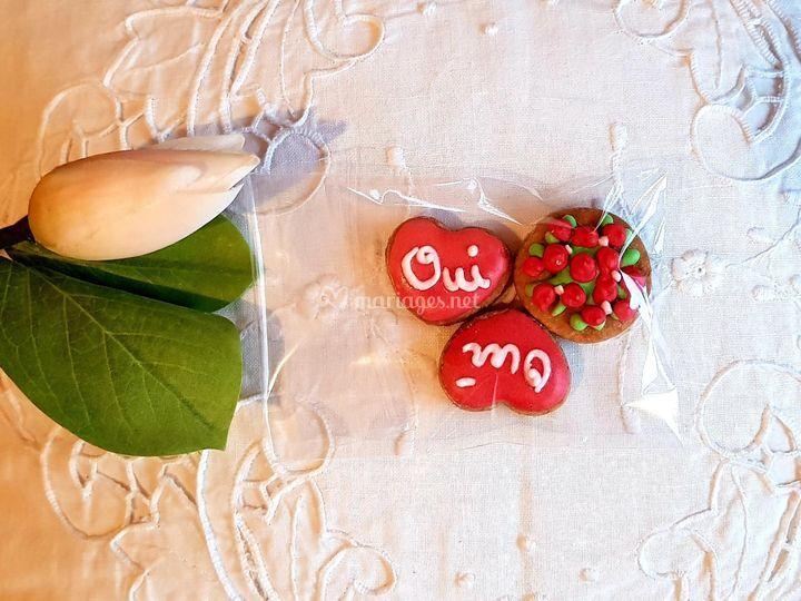Biscuits décorés : bouquet...