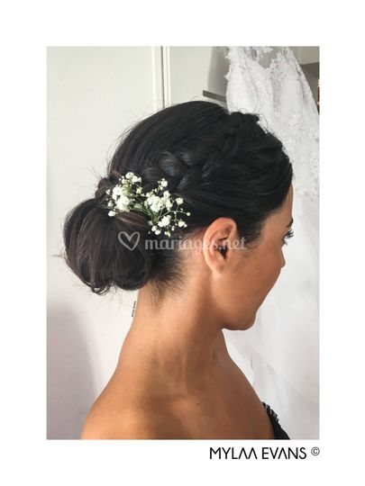 Chignon demoiselle d'honor