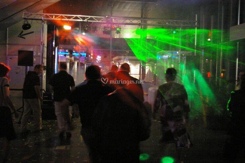 Une piste de danse en lumière