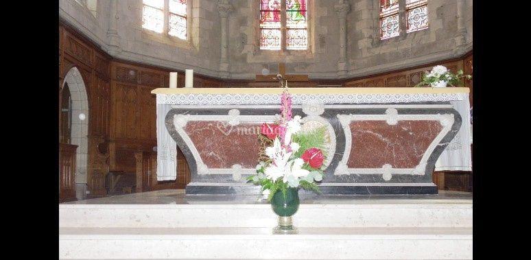 Décoration église et autel