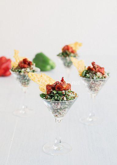 Les verrines de quinoa lime
