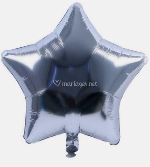 Ballon mylar etoile