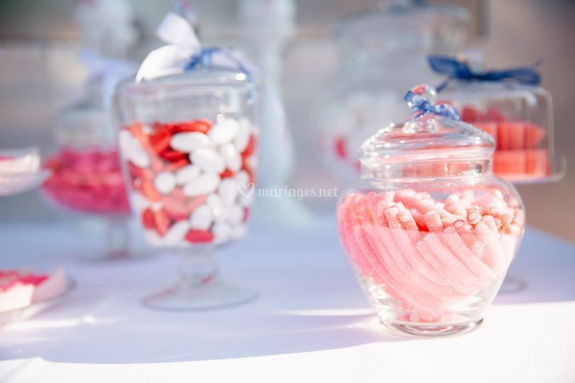 Candy bar photo blanc cortege
