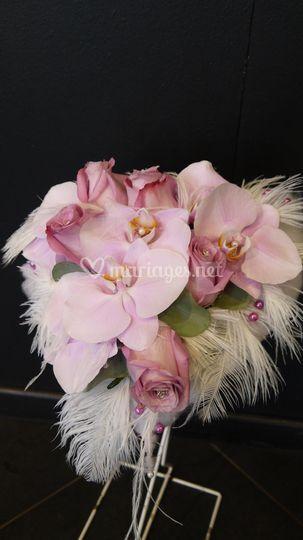 Bouquet forme coeur
