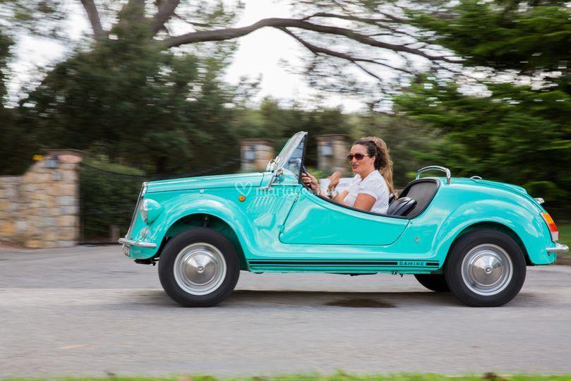 Fiat 500 Gamine 1968 Turquoise