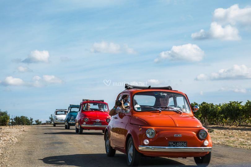Convoi Fiat 500