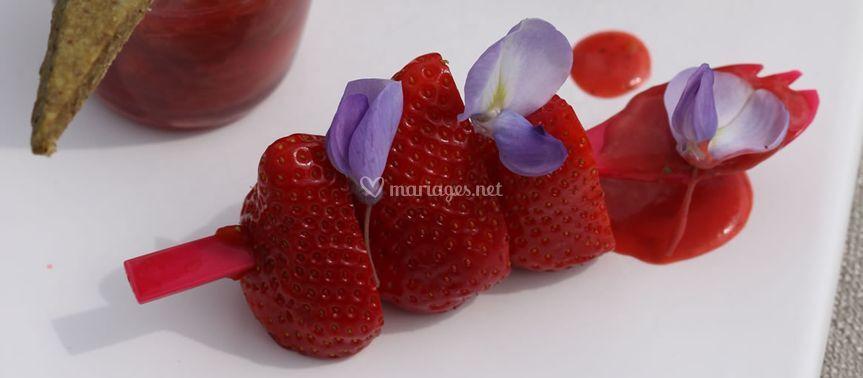 Dessert fruité