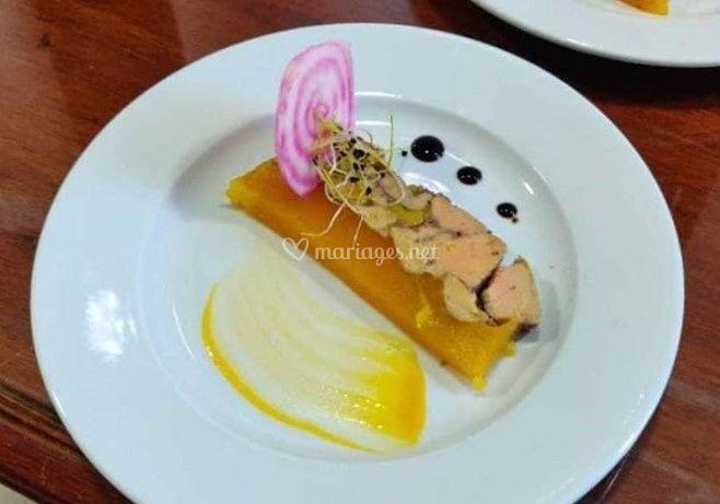Foie gras mangue et yuzu