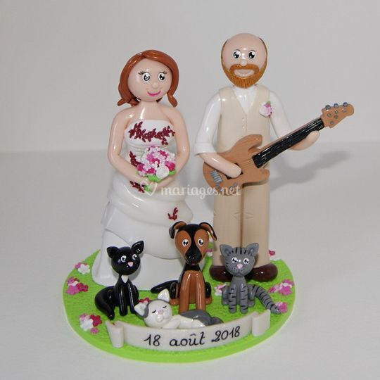 Figurines mariage musicien