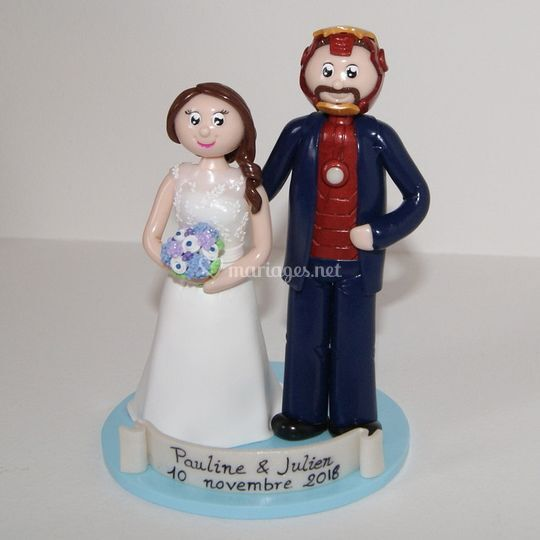 Figurines mariage Iron Man