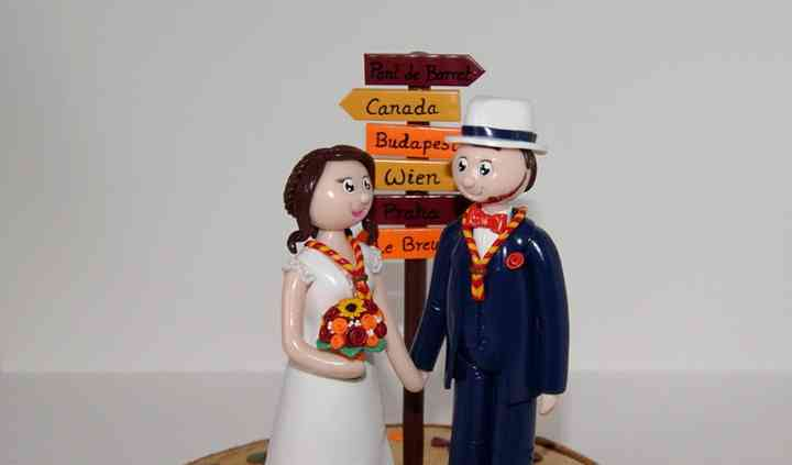 Figurines mariage scout