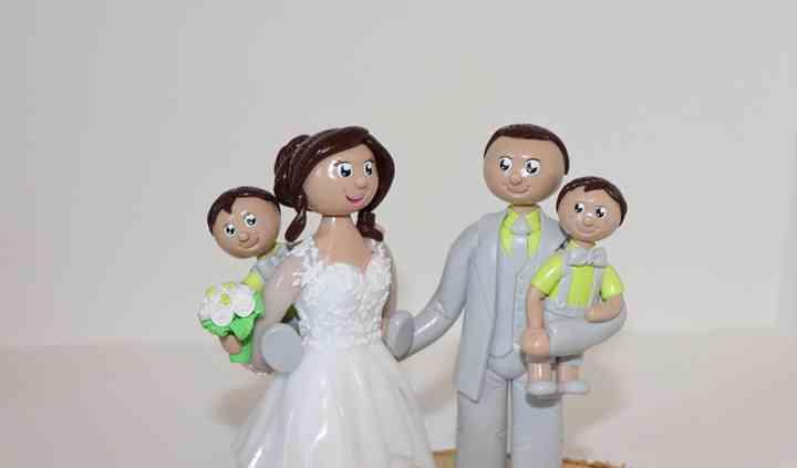 Figurines mariage en famille