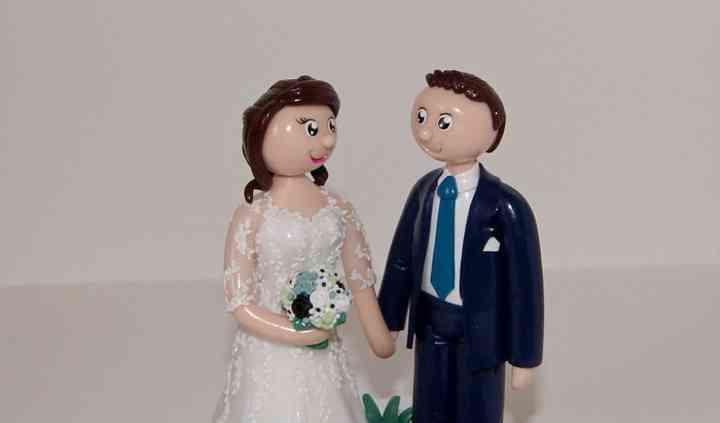Figurines mariage thème cactus