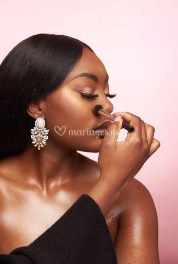 Maquillage Shooting Mariée