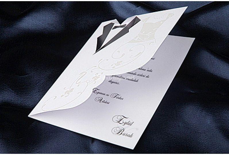 Faire-part mariage robe