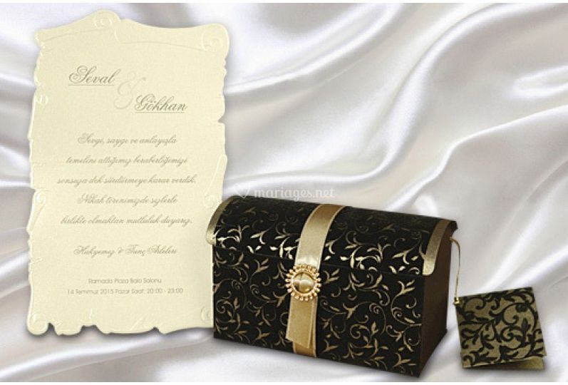 Invitation mariage luxe