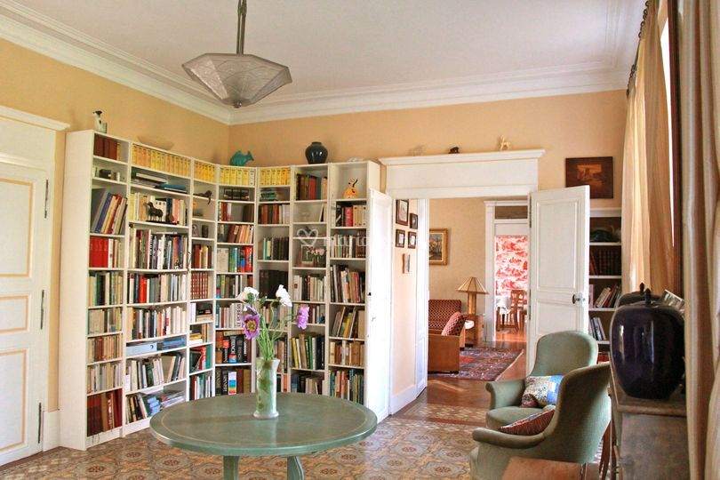 Bibliothèque et salons