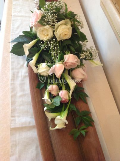 Bouquet tombant rose
