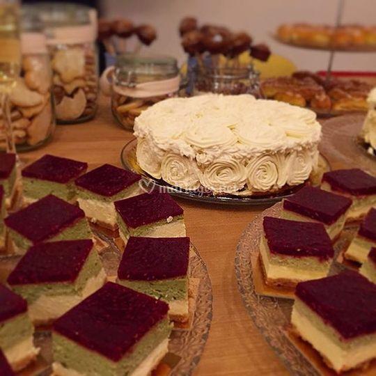 Cheesecake framboise & matcha