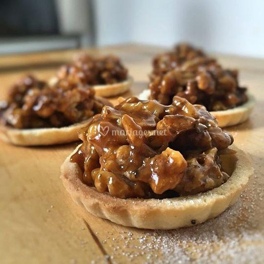 Tartelette aux noix & caramel