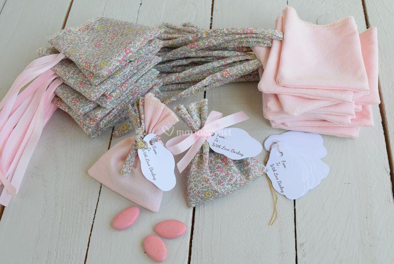 Ballotins dragées tissu