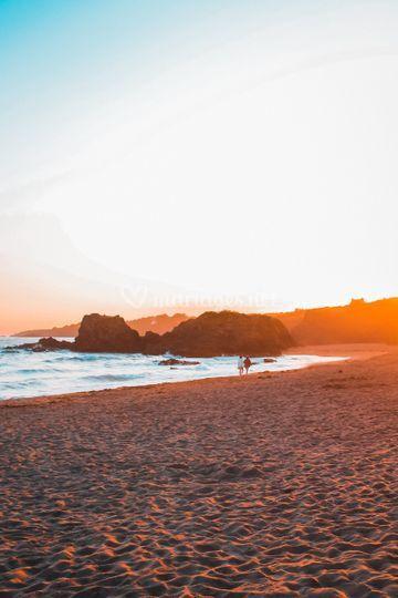 Golden hours sur la plage