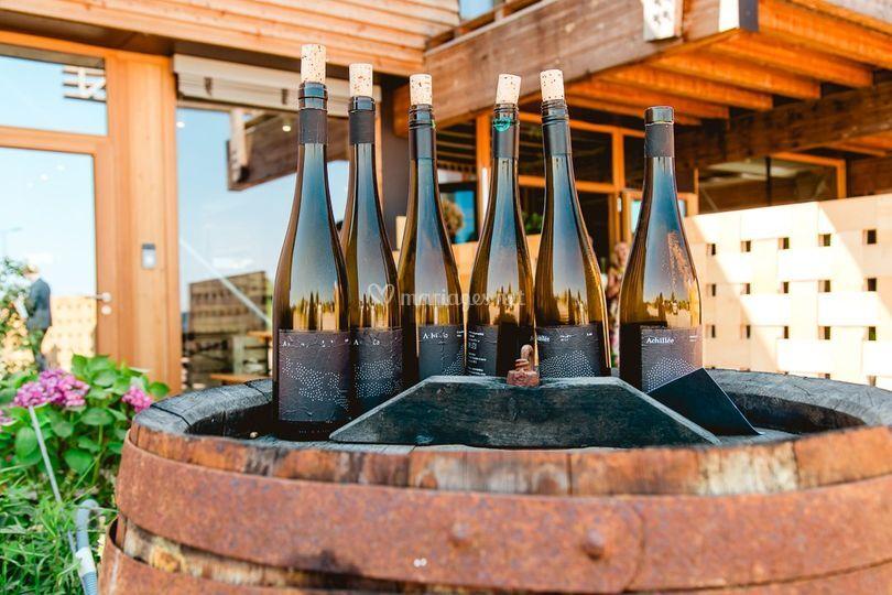6 bouteilles au vent d'Achillé