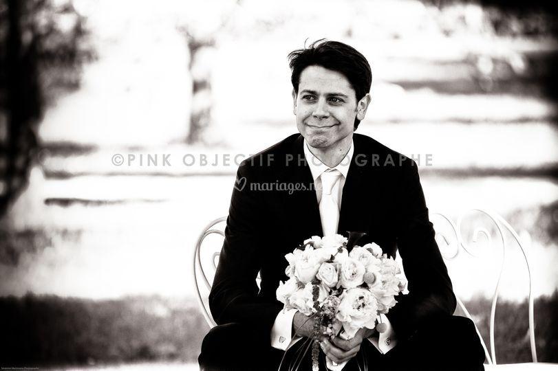 Le marié..au bord des larmes..