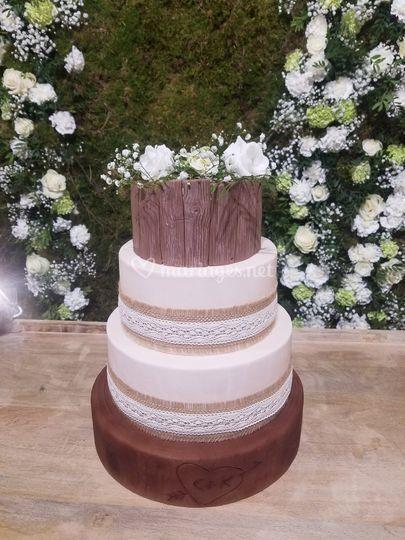 Gâteau mariage champêtre