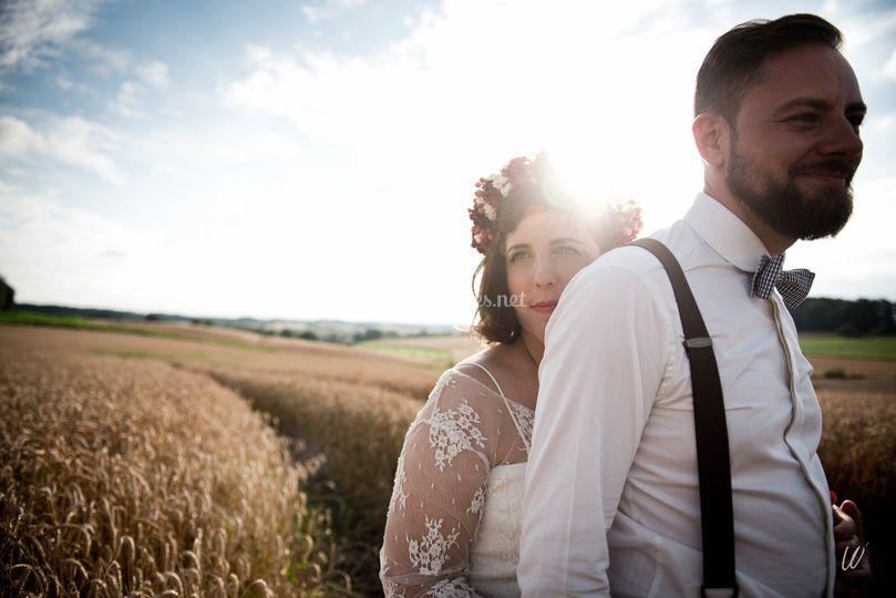 Portrait de couple sur Lucie Nicolas - Photographe Mariage