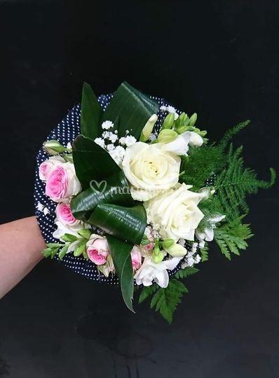 Bouquet guinguette rose