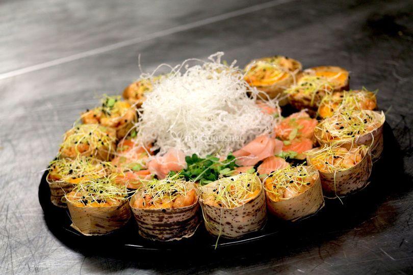 Cocktail Tataki de saumon frai