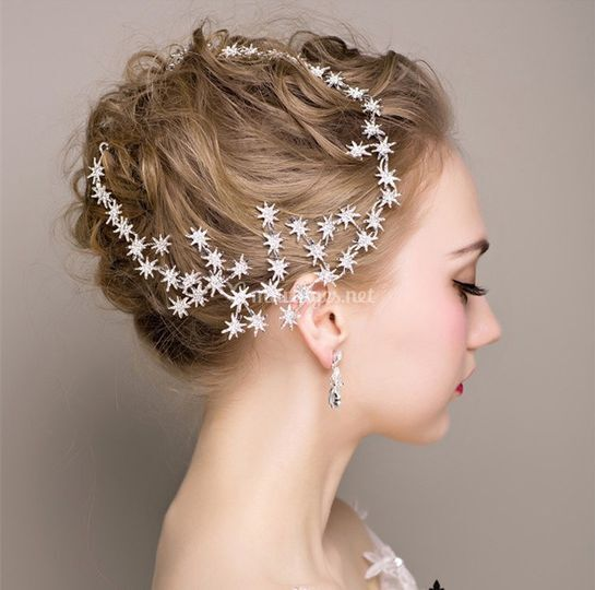 Headband mariage pluie étoiles
