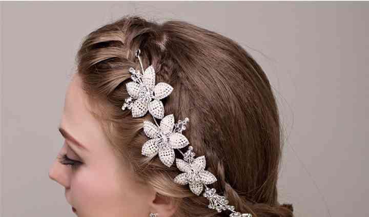 Headband mariage floral