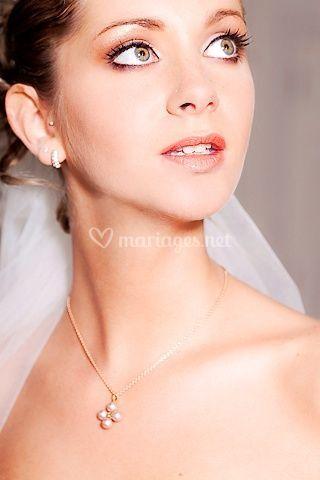 Maquillage mariée doux