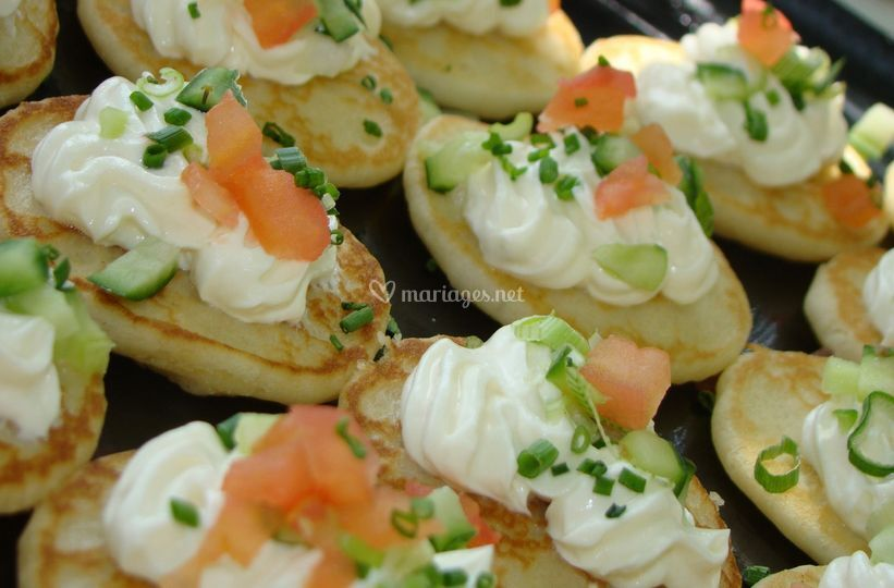 Blinis crudirées