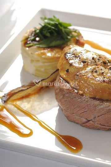 Boeuf et foie gras