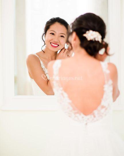 Une mariée resplendissante