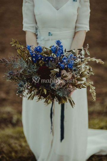 Bouquet de mariée sauvage
