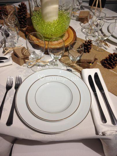 Assiette décor