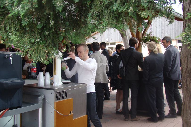 Réception en terrasse