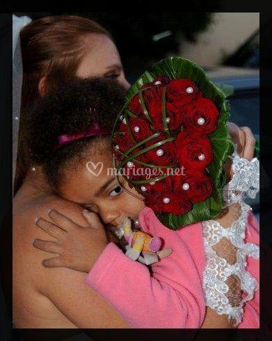 Roses rouges et perles