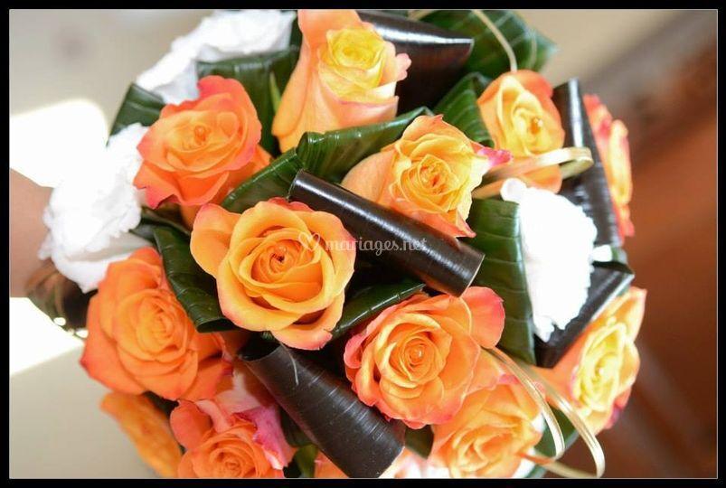 Bouquet orange et chocolat