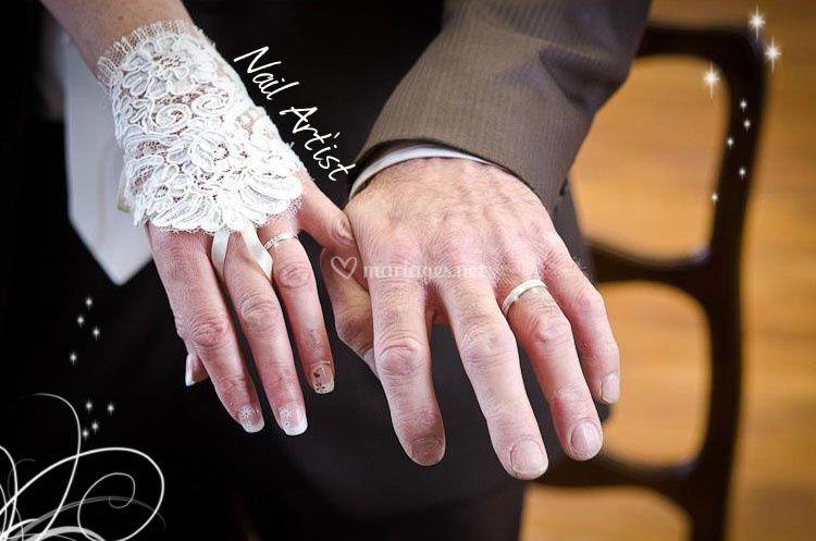Photo ongle mariage