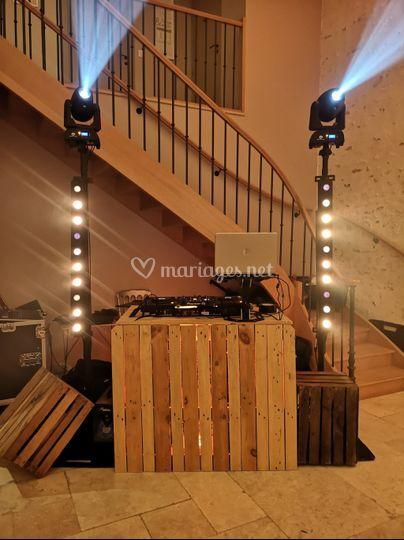 Installation DJ vintage