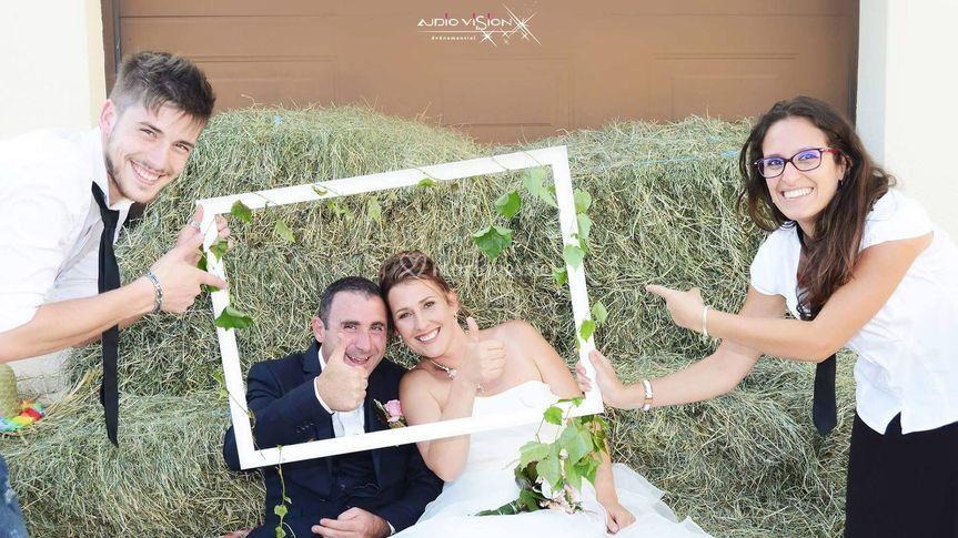 Avec nos mariés !