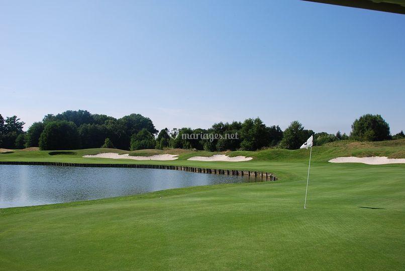 La vue sur le golf