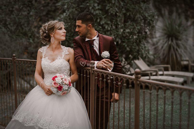 Le marié était en bordeaux :)