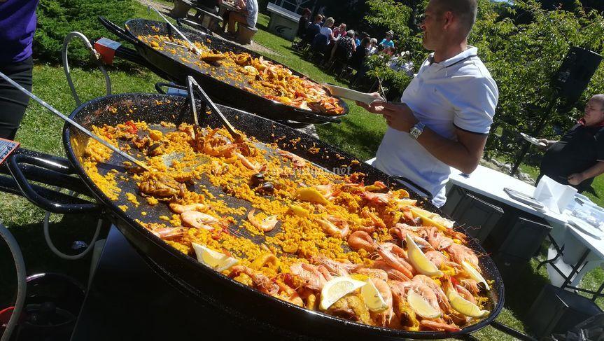 Paella pour 150 personnes