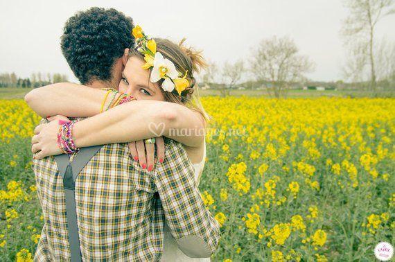 Couronnes de fleurs jaune